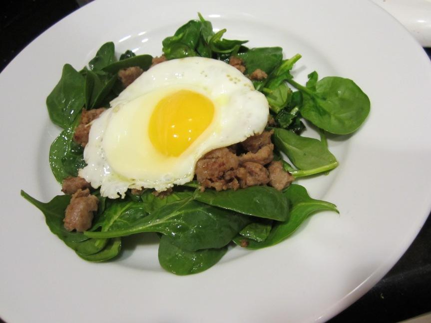 week 5: warm spinachsalad