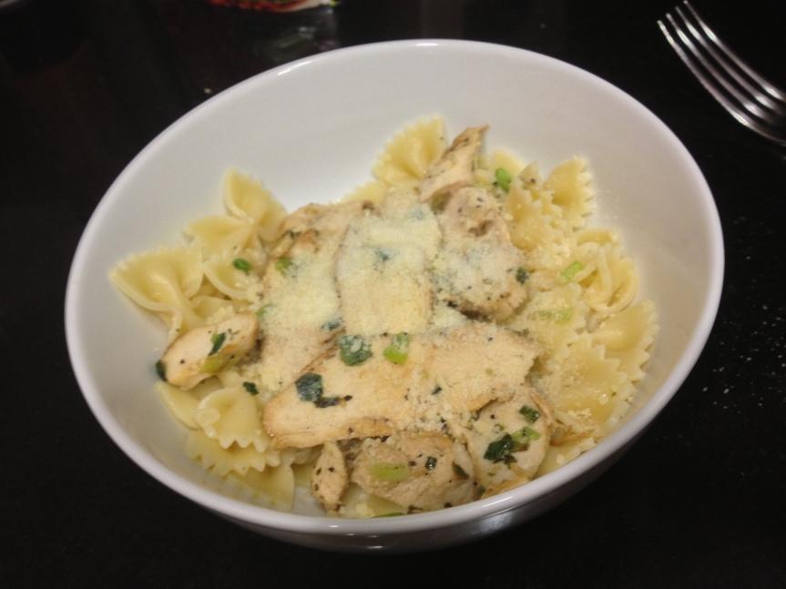 week 3: garlic chickenpasta