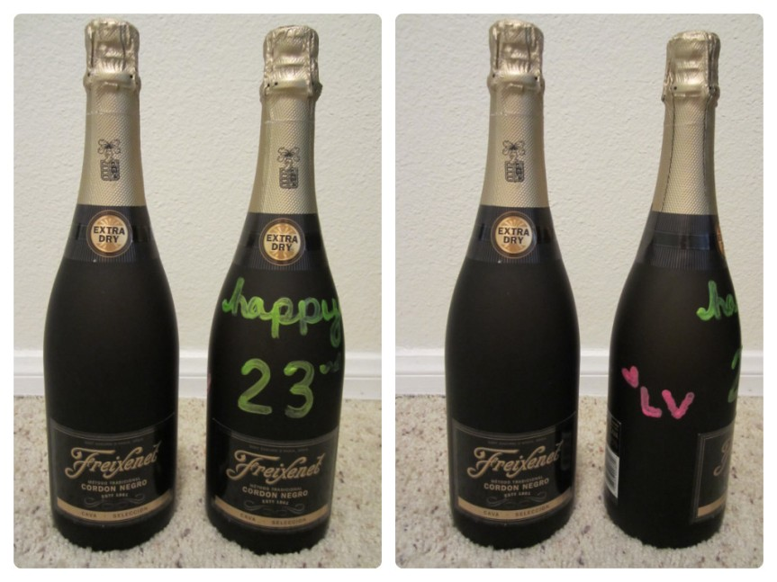 Easy DIY Personalized Champagne Bottle