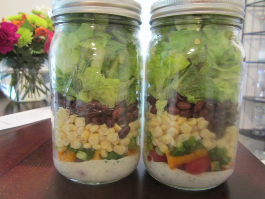 Mason Jar Southwest Chopped Salad