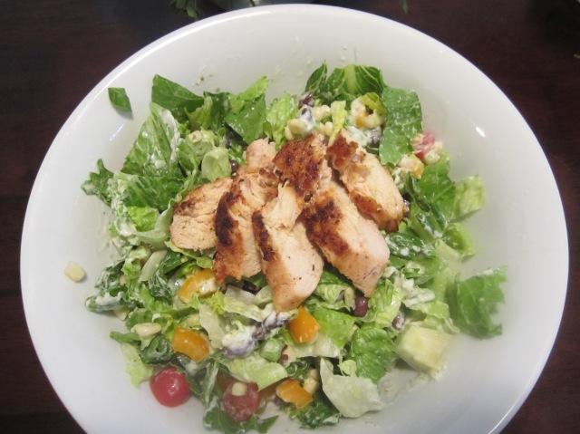 Southwestern Salad with Cajun Chicken