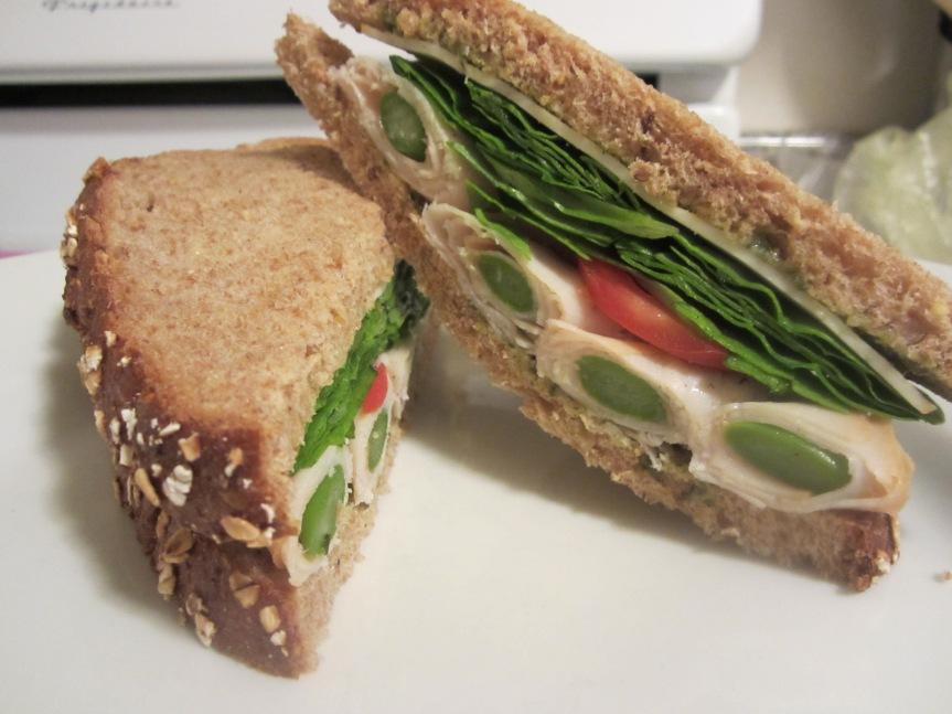 Turkey Wrapped Asparagus Sandwich