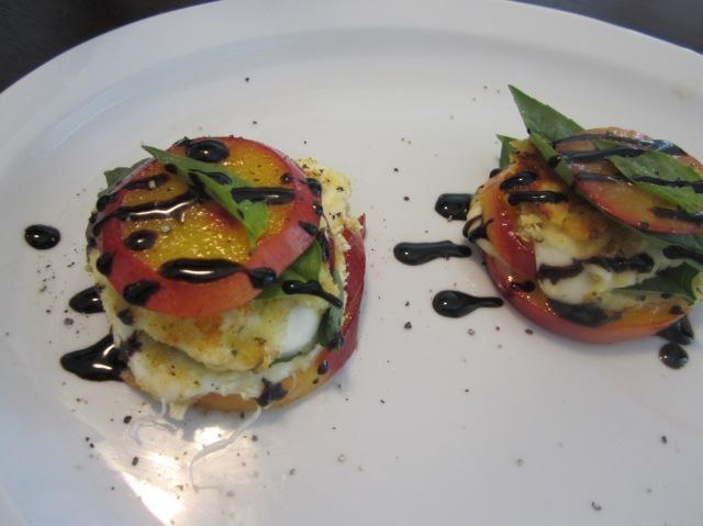 Mozzarella, Basil, and Nectarine Stack