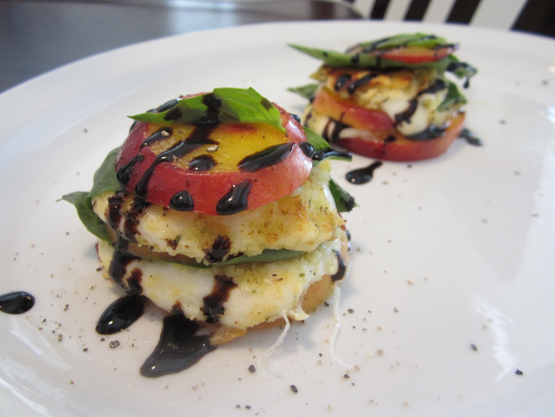 Mozzarella, Basil and Nectarine Stack | bake, broil & blog