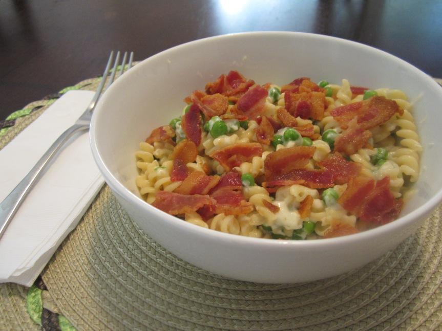 Bacon & Pea Macaroni & Cheese