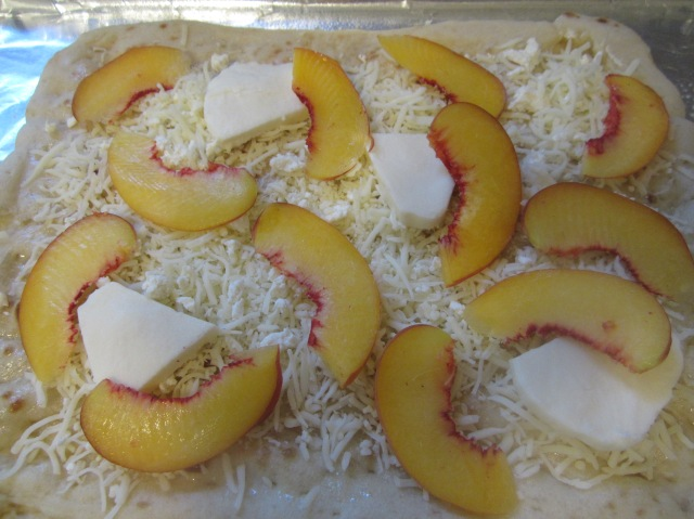 Balsamic Peach Flatbread