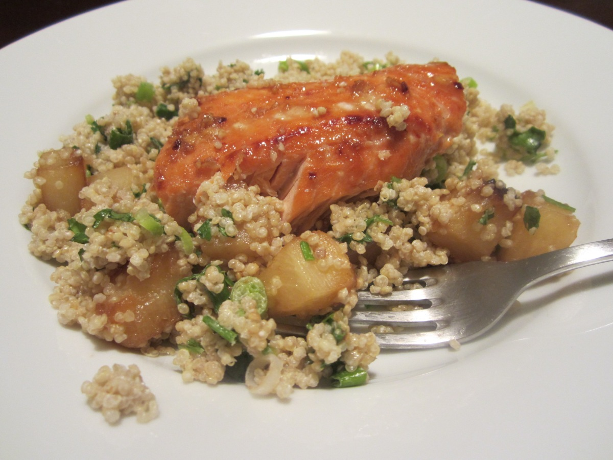 Week 40: Caramelized Pineapple Quinoa & Salmon