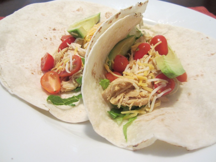 Crock Pot Cool Ranch Chicken Tacos