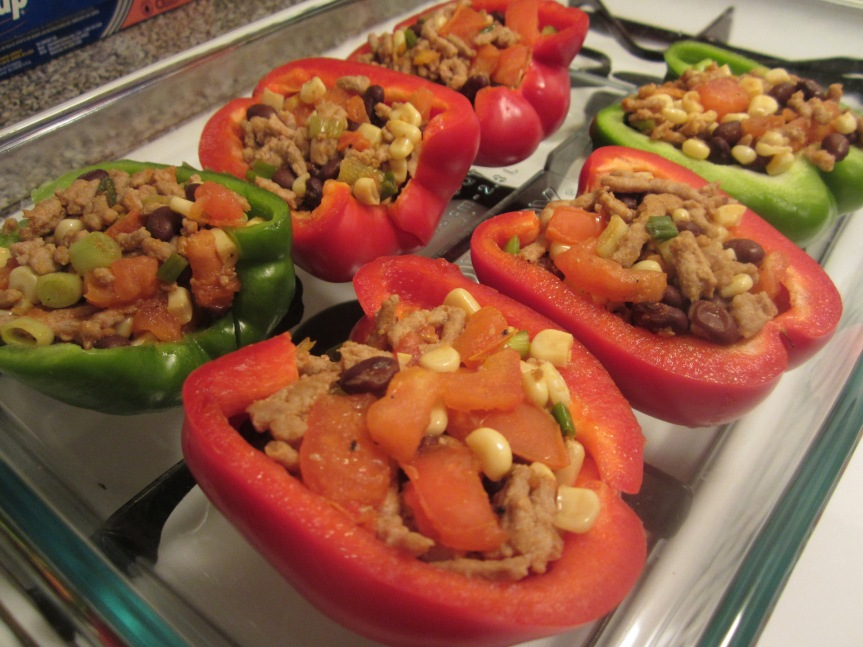 Week 44: Chiptole Turkey Stuffed Bell Peppers