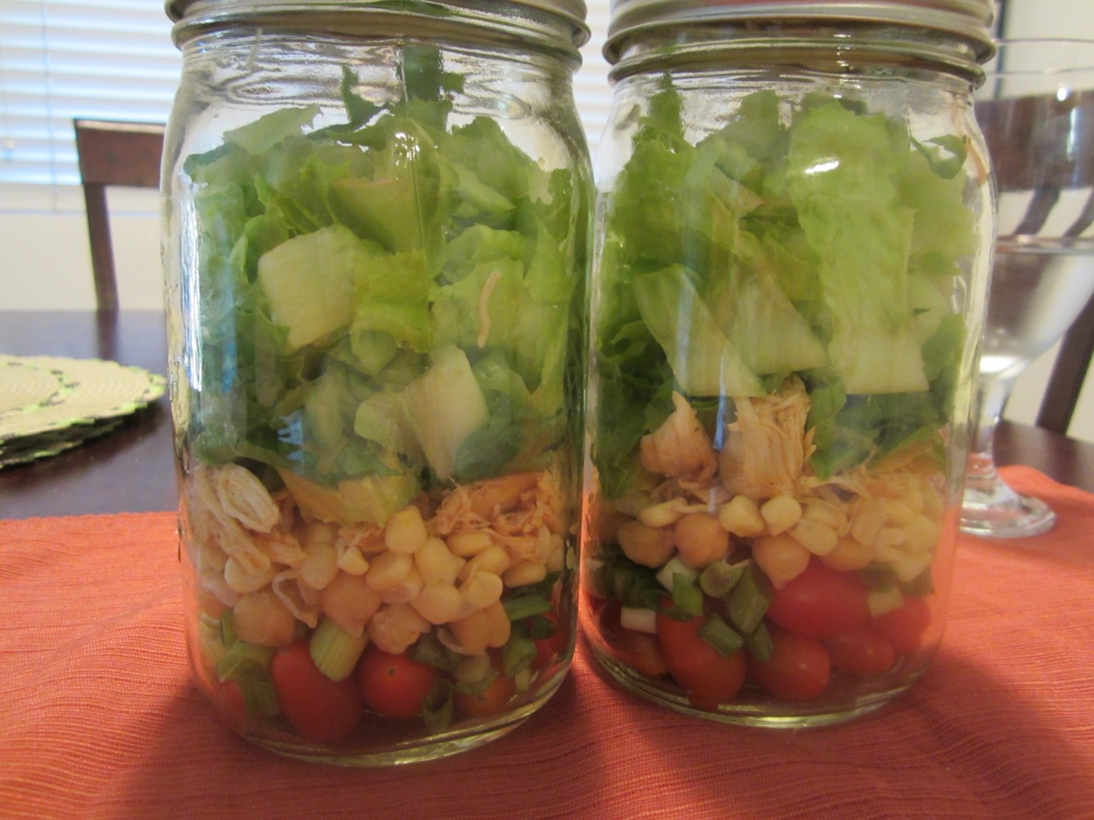 Mason Jar Cool Ranch Chicken Chopped Salad