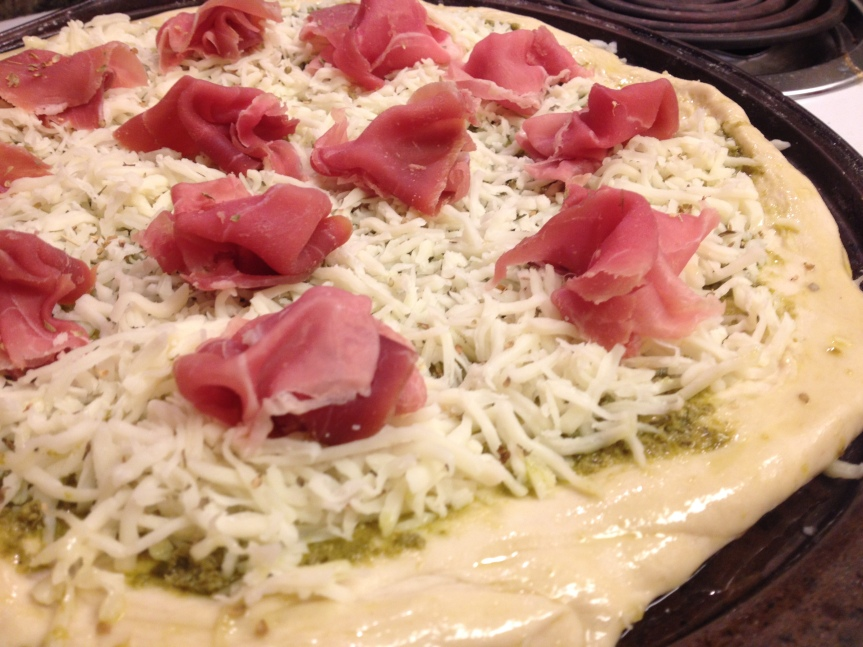 Week 51: Pesto & Prosciutto Pizza