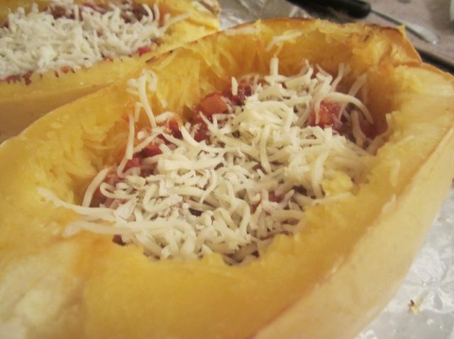 Spaghetti Squash Lasagna Boats