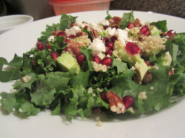 Kale, Pomegranate & Avocado Salad
