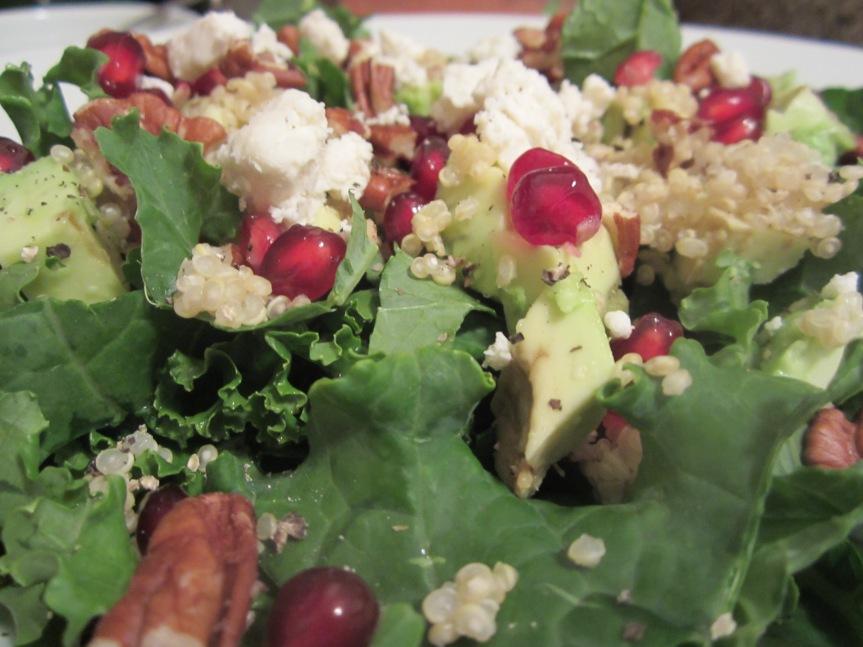 Kale, Pomegranate & Avocado Salad