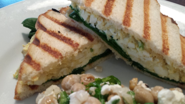Healthy Egg Salad Panini