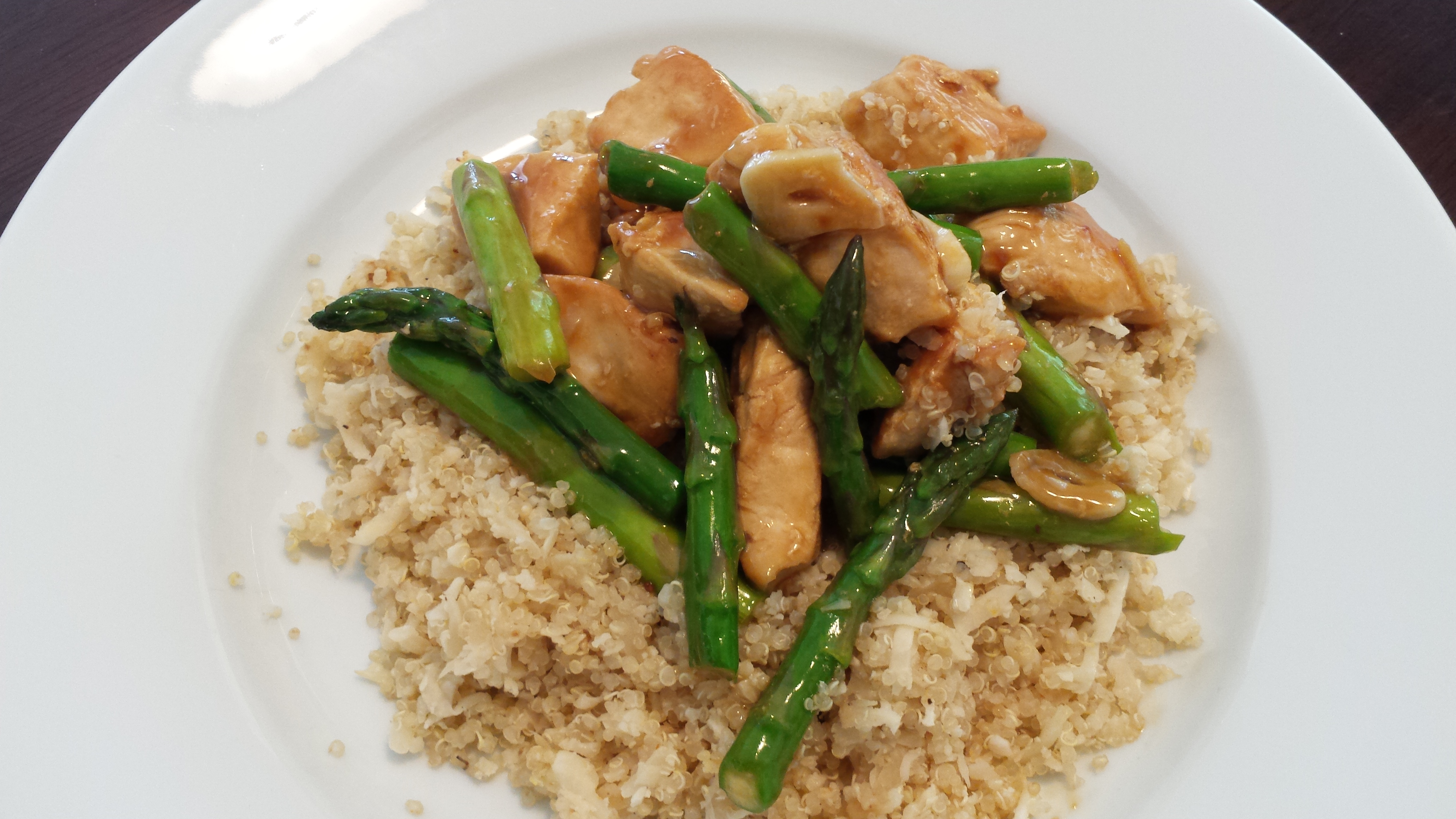 how to cook asparagus with chicken