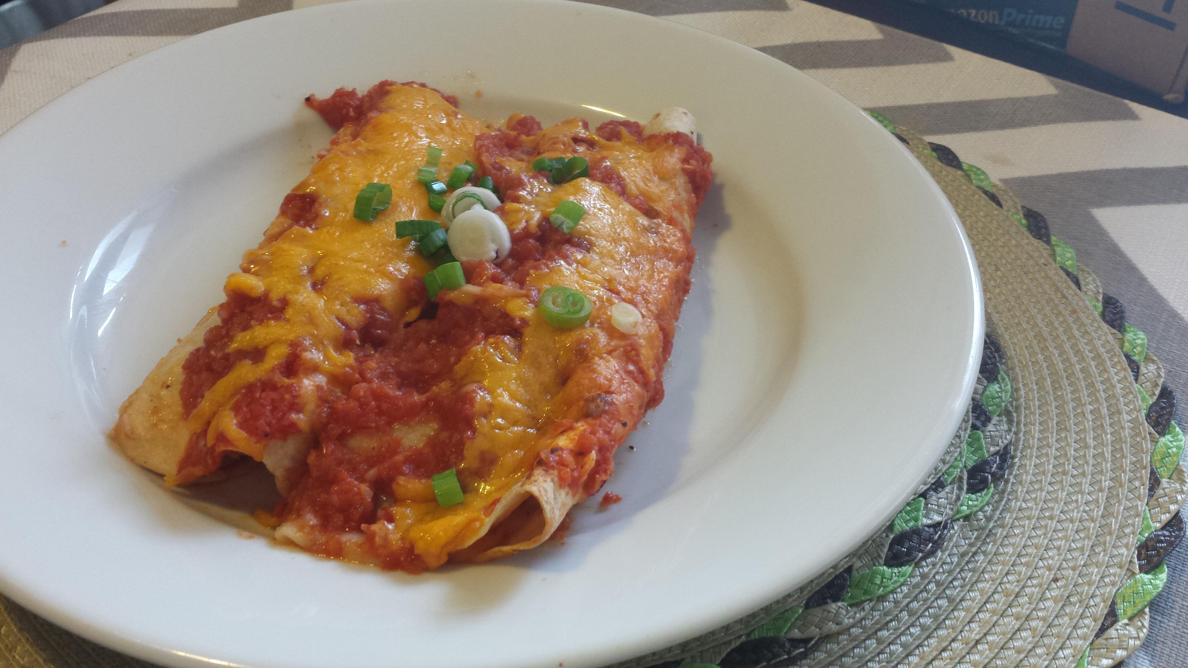 Sweet Potato & Black Bean Enchiladas | bake, broil & blog