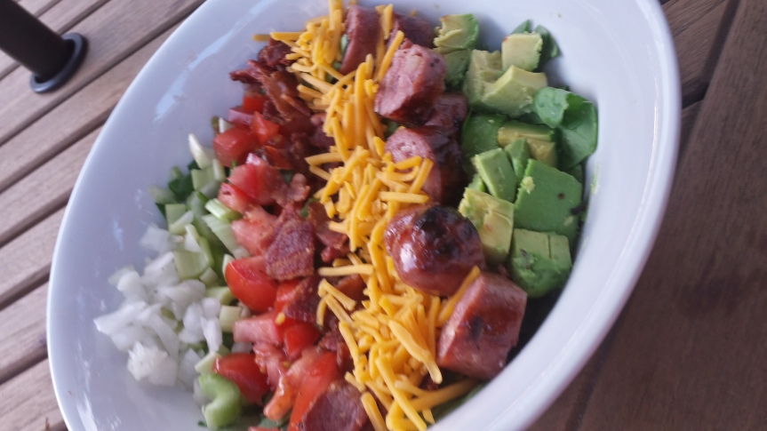 Easy Chopped Salad with Sausage