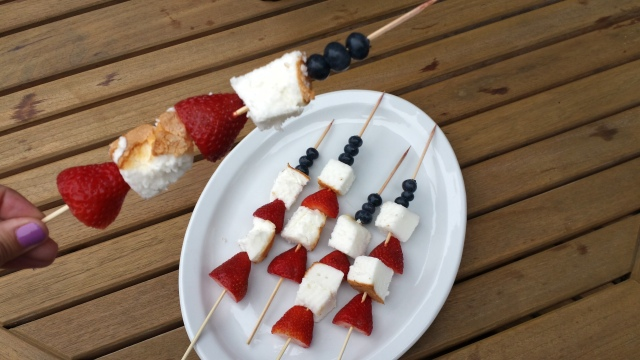 Red, White & Blue Fruit Skewers
