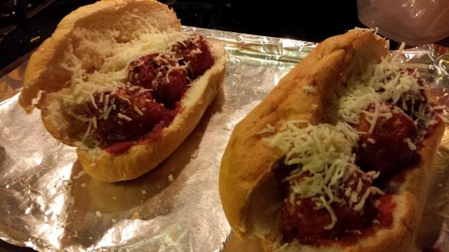 Turkey Meatball Submarine Sandwiches