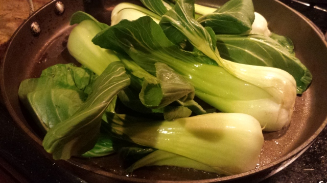 Baby Bok Choy with Miso Dressing