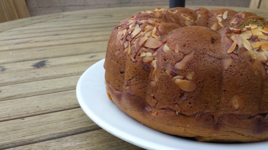 Almond Pumpkin Banana Bundt Cake