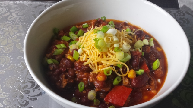 Loaded Crockpot Turkey Chili