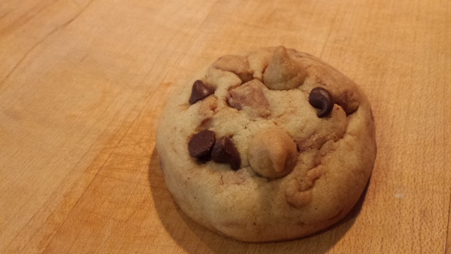 Surprise Peanut Butter Chocolate Chip Cookies