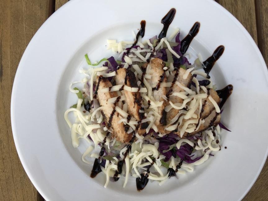 Garlic & Soy Pork Chop with Cabbage Salad