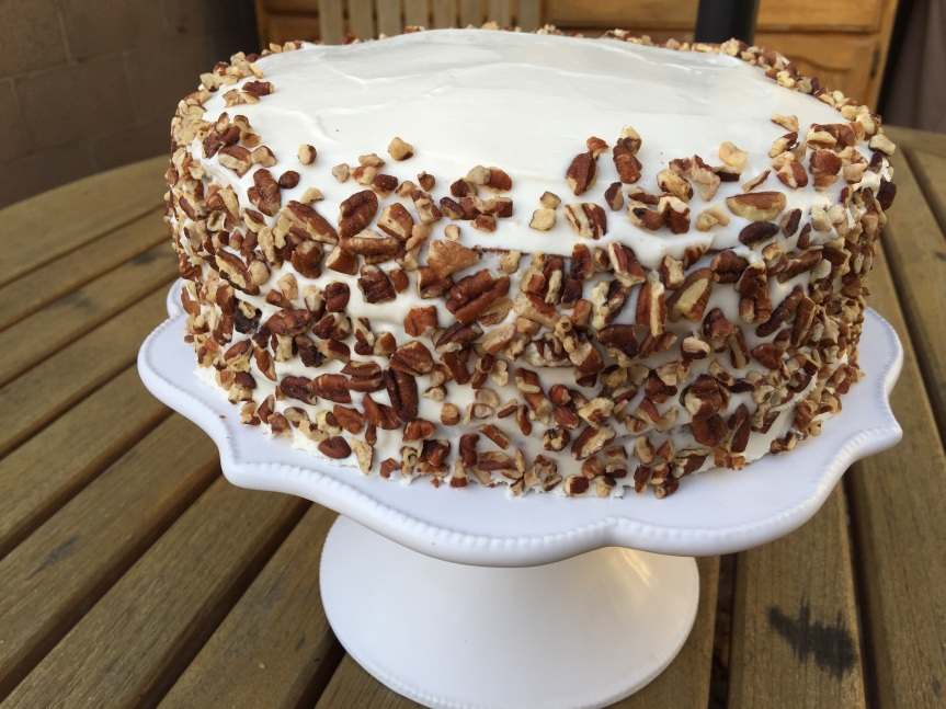 Apple & Carrot Cake with Goat Cheese Frosting