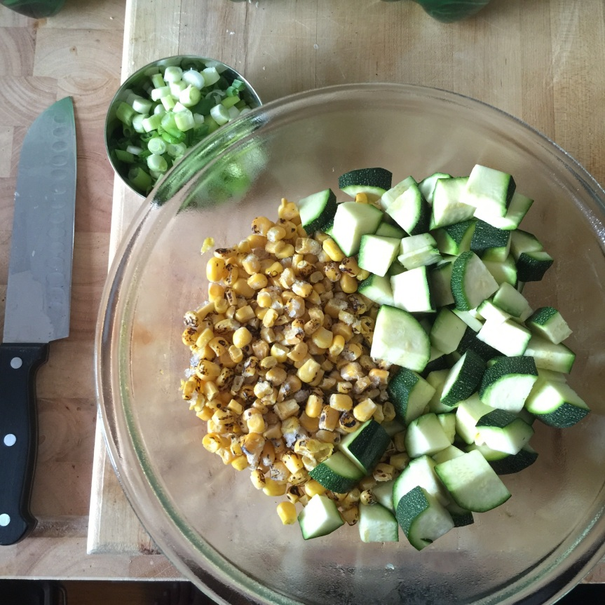 Zucchini, Corn and Chciken Quinoa Bowls