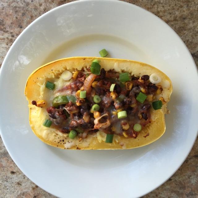 Chorizo Spaghetti Squash Burrito Bowl