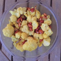 Cauliflower, Golden Raisin, Almond Salad with Curry Vinaigrette
