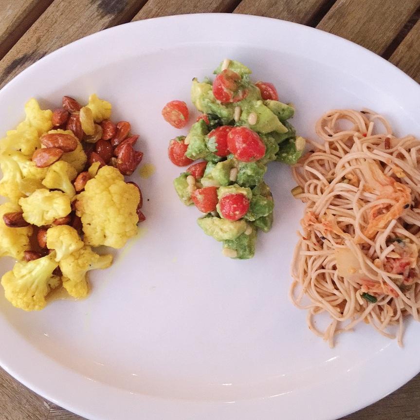 Soba Noodles + Kimchi Vegetables