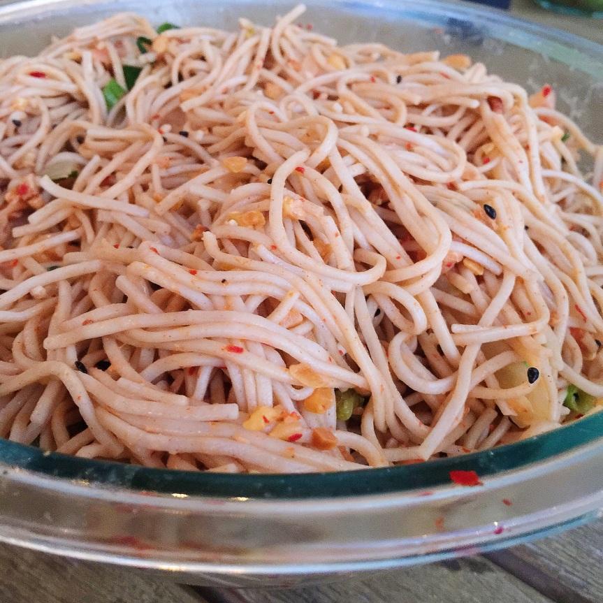 Soba Noodles + KimchiVegetables