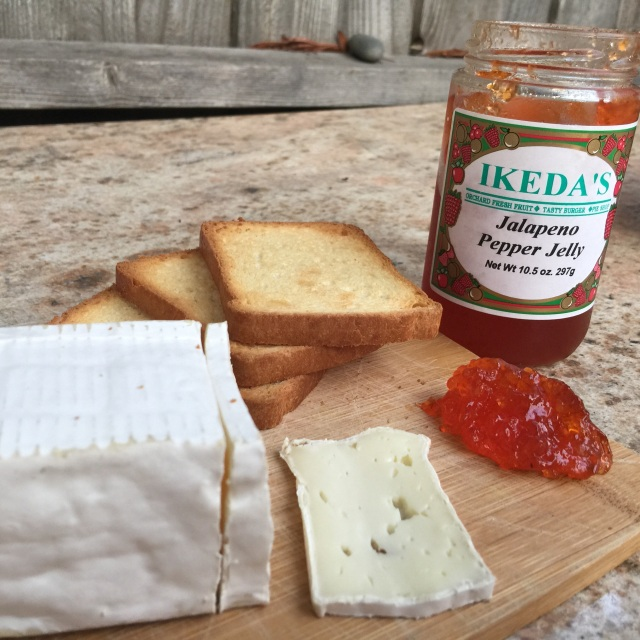 Brie & Jalapeno Jelly Toast