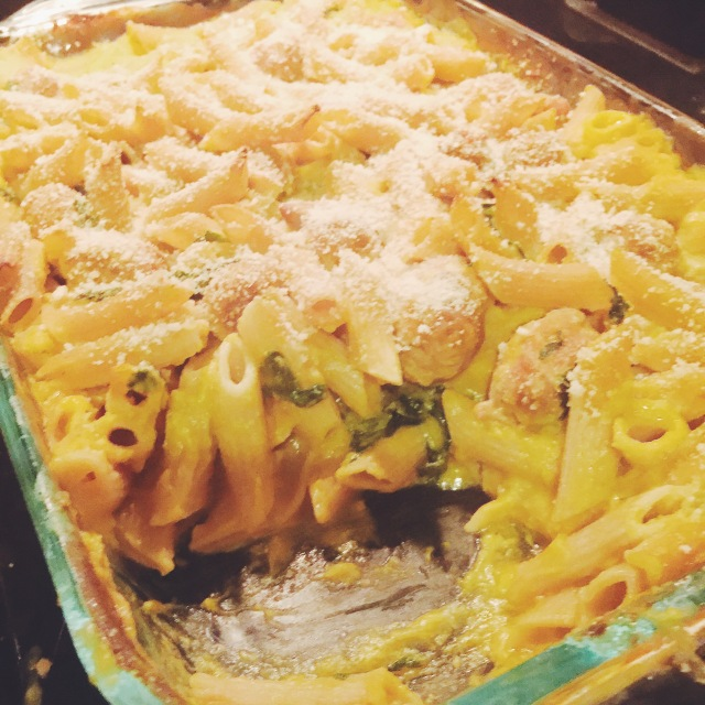 Loaded Butternut Squash Mac n Cheese
