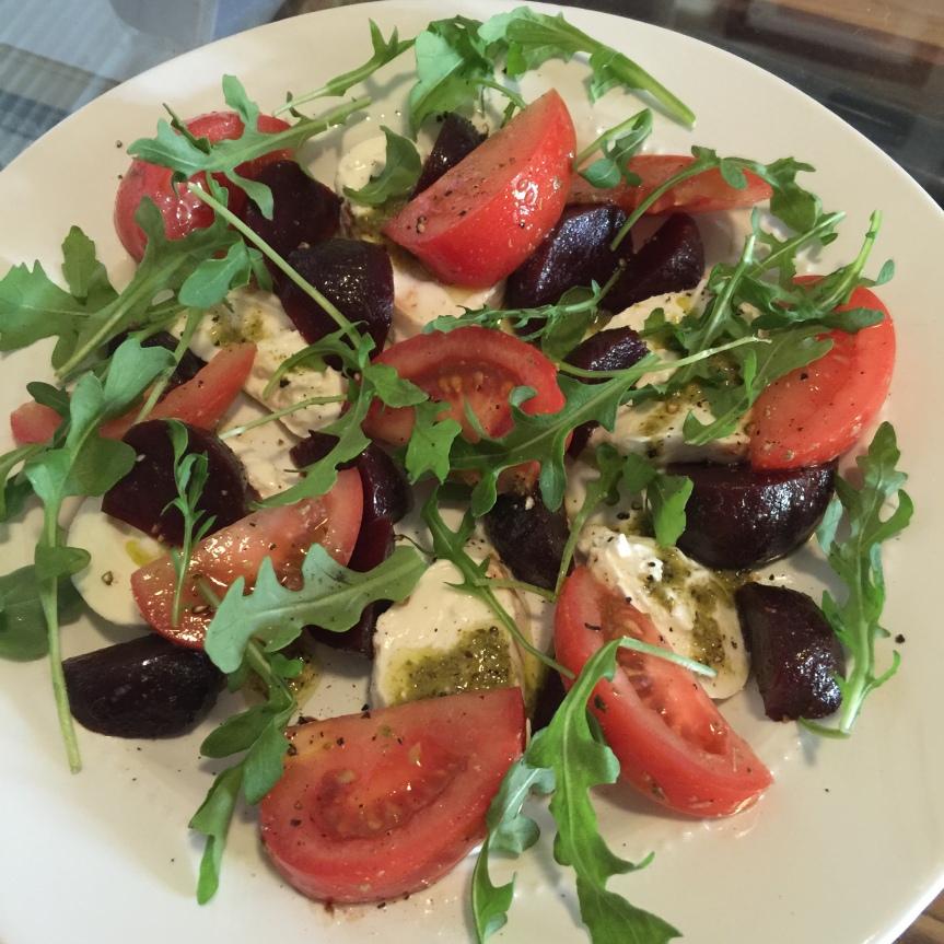 Tomato, Beet and Burrata Salad