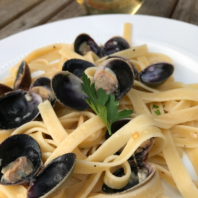 Spicy Clams & Pasta